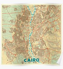 Cairo Map Retro Poster