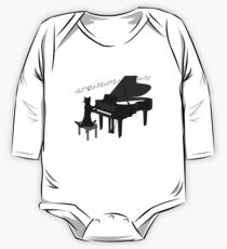 Funny Cat Playing Piano Keys Music Gift Kids Clothes
