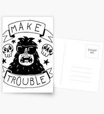 Make trouble - anarchy gorilla Postcards