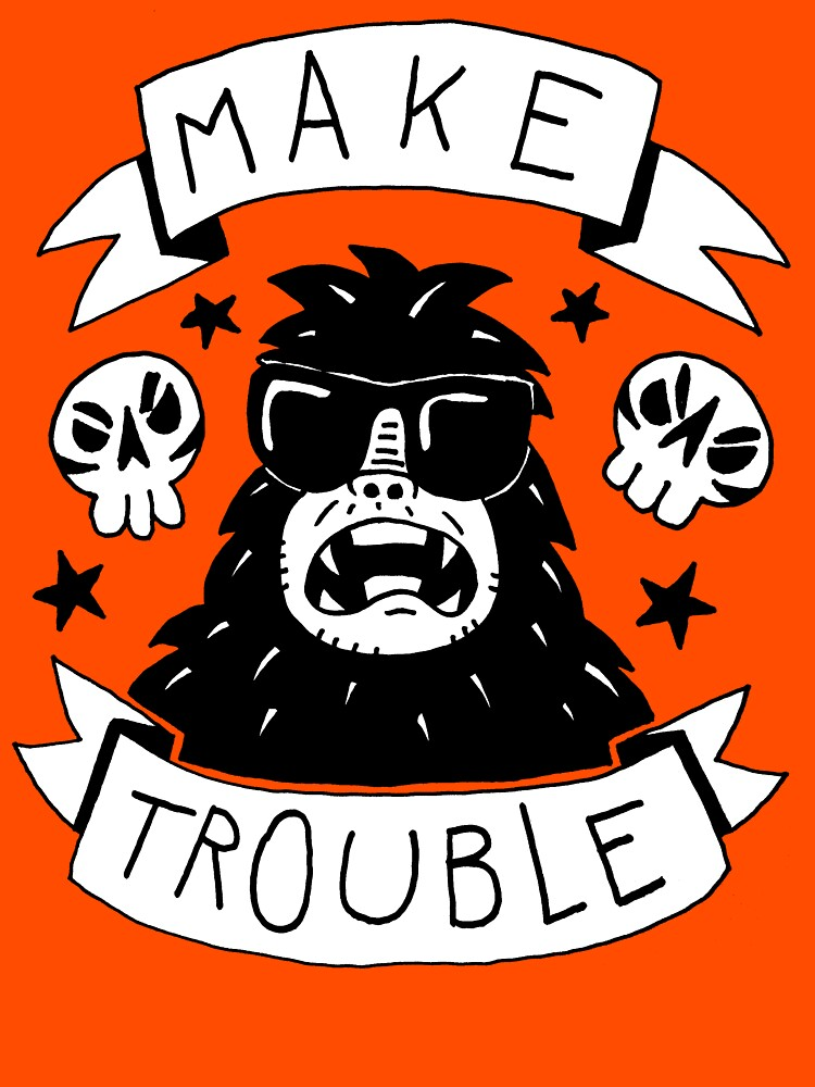 Make trouble - anarchy gorilla | Unisex T-Shirt