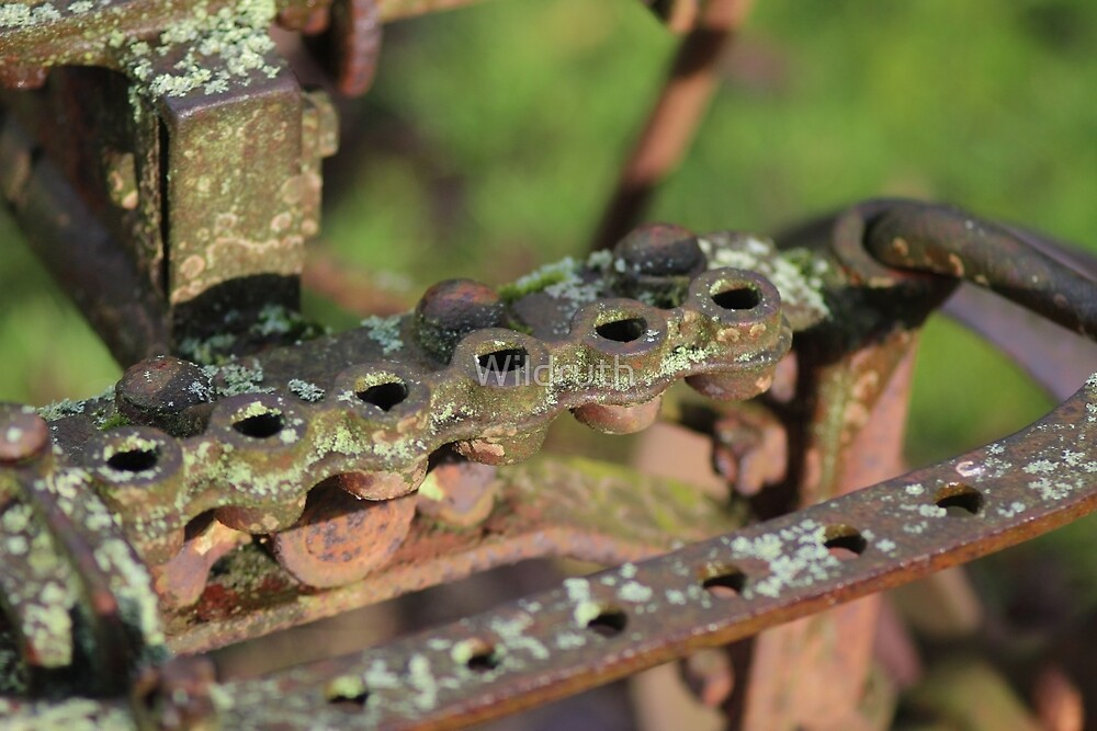 Old Metal farming object that is rusty by Wildruth