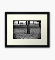 A chair (Le Jardin du Luxembourg) Framed Print