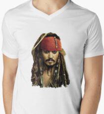 Captain Jack Sparrow Men's V-Neck T-Shirt