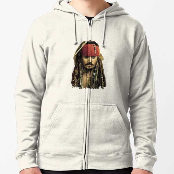 Captain Jack Sparrow Zipped Hoodie