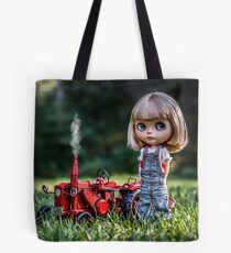 Ricky's Red Tractor Tote Bag