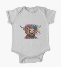Scottish Hairy Highland Cow ' ROCK A BILLY ' by Shirley MacArthur Kids Clothes