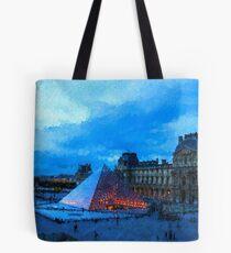 Impressions of Paris - Louvre Pyramid Evening Tote Bag