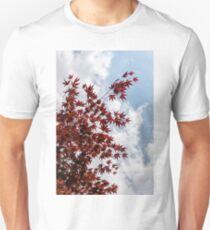 Japanese Maple Red Lace - Vertical Up Right T-Shirt