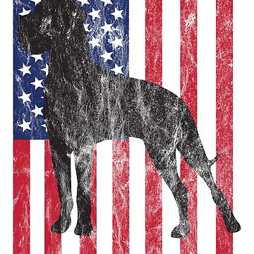 Great Dane Dog USA Flag Distressed Design by kudostees