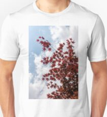 Japanese Maple Red Lace - Vertical Up Left T-Shirt