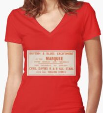 Vintage ROLLING STONES – Marquee residency (January 1963) Women's Fitted V-Neck T-Shirt