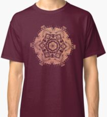 Bronze mandala on dark purple Classic T-Shirt