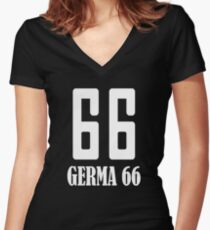 Germa 66 Women's Fitted V-Neck T-Shirt