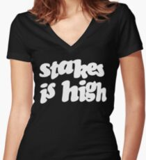 Stakes is High - De La Soul Women's Fitted V-Neck T-Shirt