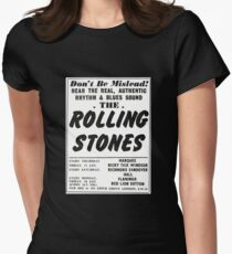 Vintage ROLLING STONES – early 1963 London club residencies Womens Fitted T-Shirt
