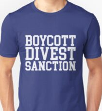 Boycott Divest Sanction Unisex T-Shirt