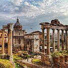 Ancient Roman Forum Ruins - Impressions Of Rome by Georgia Mizuleva