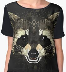 Raccoon Women's Chiffon Top