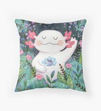 the flower guardian Throw Pillow