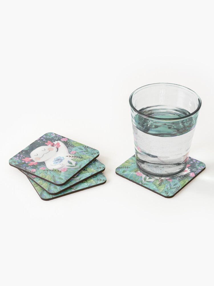 Alternate view of the flower guardian Coasters (Set of 4)