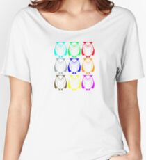 Geometric colorful owls Women's Relaxed Fit T-Shirt