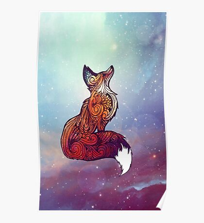 Space Fox Poster