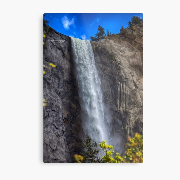 Waterfall Yosemite Spring 2017 Metal Print