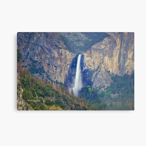 Bridalveil Falls from a far Metal Print