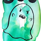 Boo - Green Watercolor Ghost by SaradaBoru