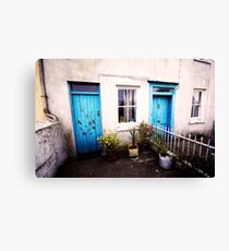 Tourquoise Doors Canvas Print