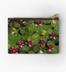 Vivid Fuchsia Waterlilies Studio Pouch