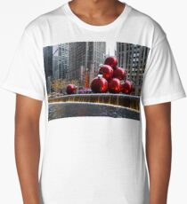 A Christmas Card from New York City – Radio City Music Hall and the Giant Red Balls Long T-Shirt