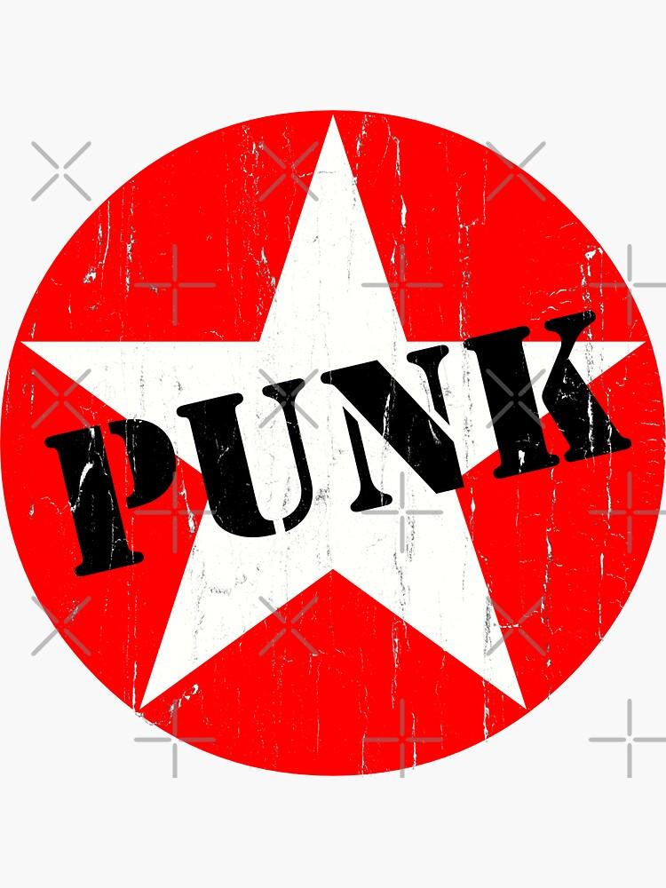 PUNK - Road worn - Distressed - Grunge - Star Logo by BobbyG305