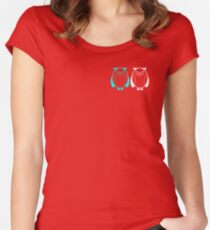 Two owls Women's Fitted Scoop T-Shirt