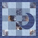 denim patchwork quilt  by gameover