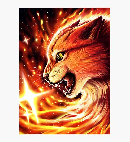 Fire Star Photographic Print