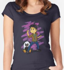 Panguin Fighting Duo Women's Fitted Scoop T-Shirt