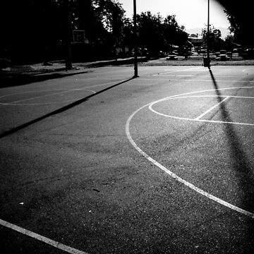 B&W Basketball Lines by jlkauffman