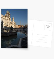 Roman Morning - Shadow and Light on Piazza Navona, Rome, Italy Postcards