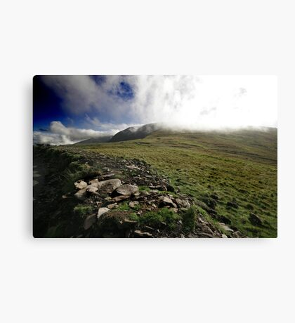Fog rolls over the hill Canvas Print