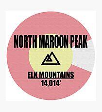 North Maroon Peak Photographic Print