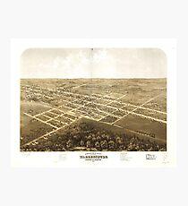 Bird's Eye View of Warrensburg, Missouri (1869) Photographic Print