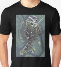 Venice city map engraving T-Shirt