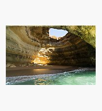 Sea Cave Sunlight - the Iconic Benagil Natural Wonder Photographic Print