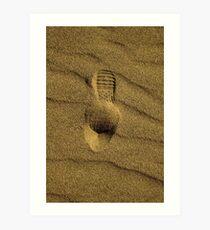 Footstep Art Print