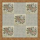 floral patchwork quilt by gameover