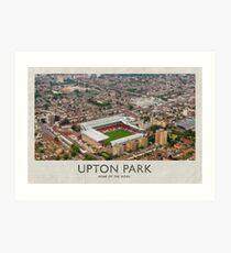 Vintage Football Grounds - Upton Park (West Ham United FC) Art Print