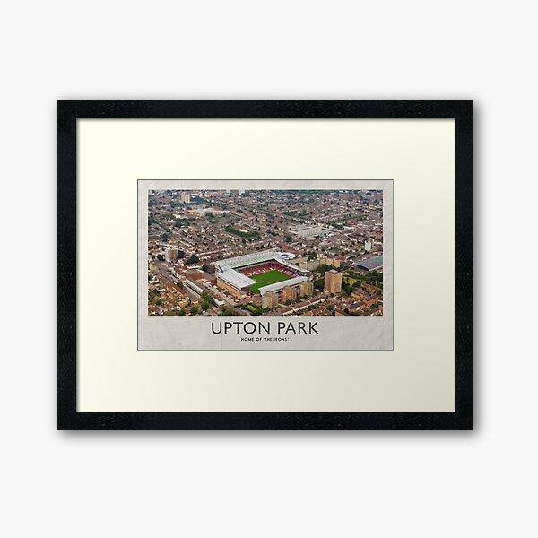 Vintage Football Grounds - Upton Park (West Ham United FC) Framed Art Print