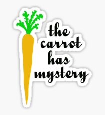 The carrot has mystery Sticker