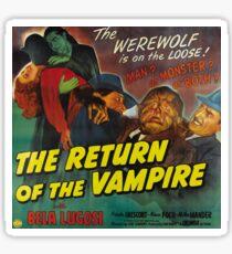 The Return of the Vampire, vintage horror movie poster Sticker